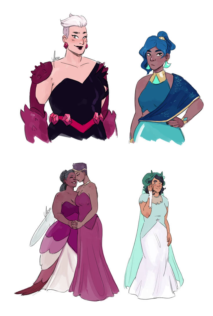Princess Prom Looks by yinza