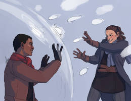 Patreon Reward - FinnRey Snowball Fight by yinza