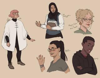 Wizard School Dream Sketches by yinza