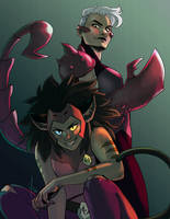 Catra and Scorpia by yinza