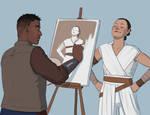 Patreon Reward - Finn Painting Rey