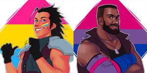 Pansexual Zack + Bisexual Barret