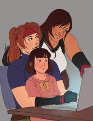 Tifa Week Day 4 - Family / AVALANCHE