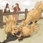 Sketchtember Day 11 - Chocobo Nap