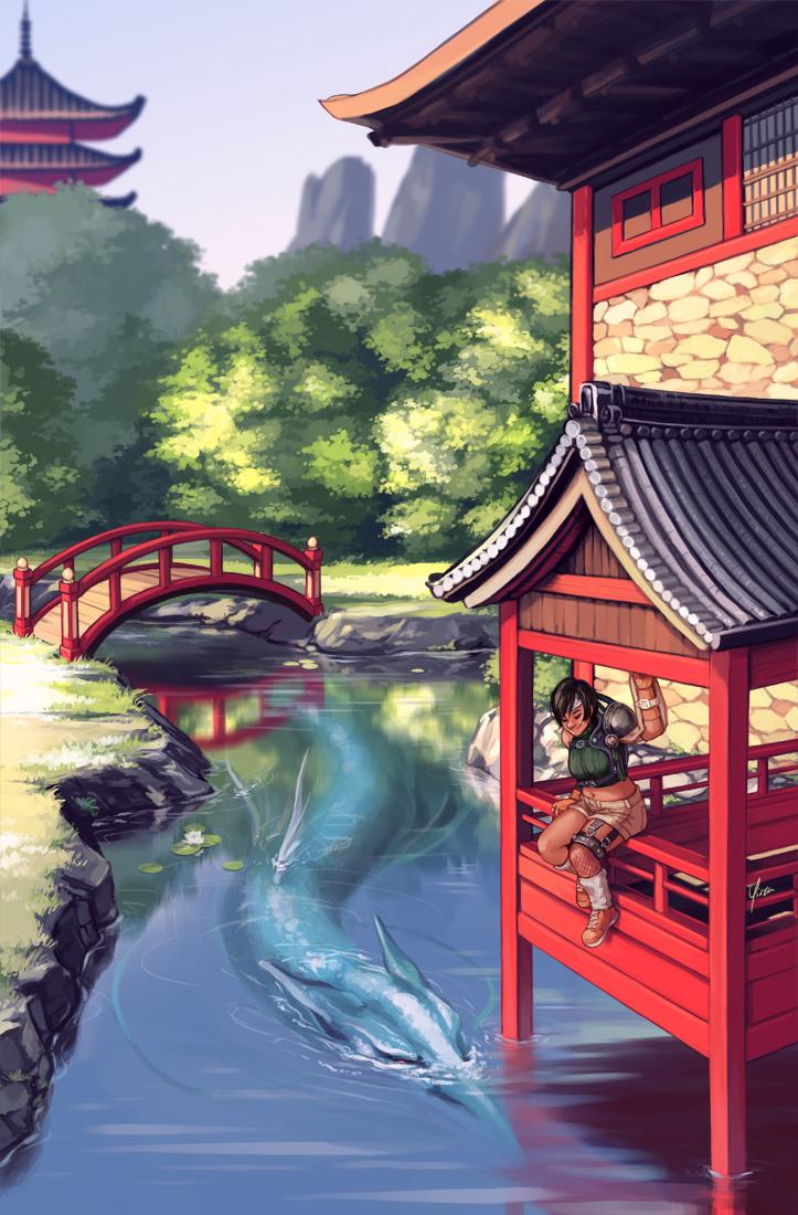 In Bloom Zine Illustration: Yuffie