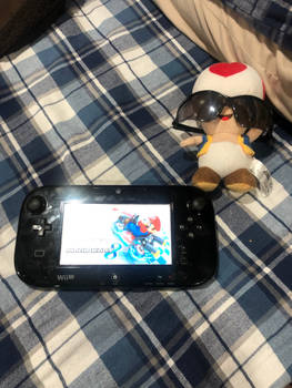 Toad the cool Wii U gamer