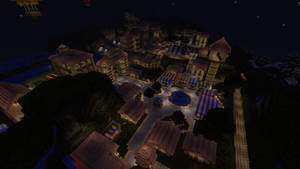 Minecraft Town by Lilcrowstudios