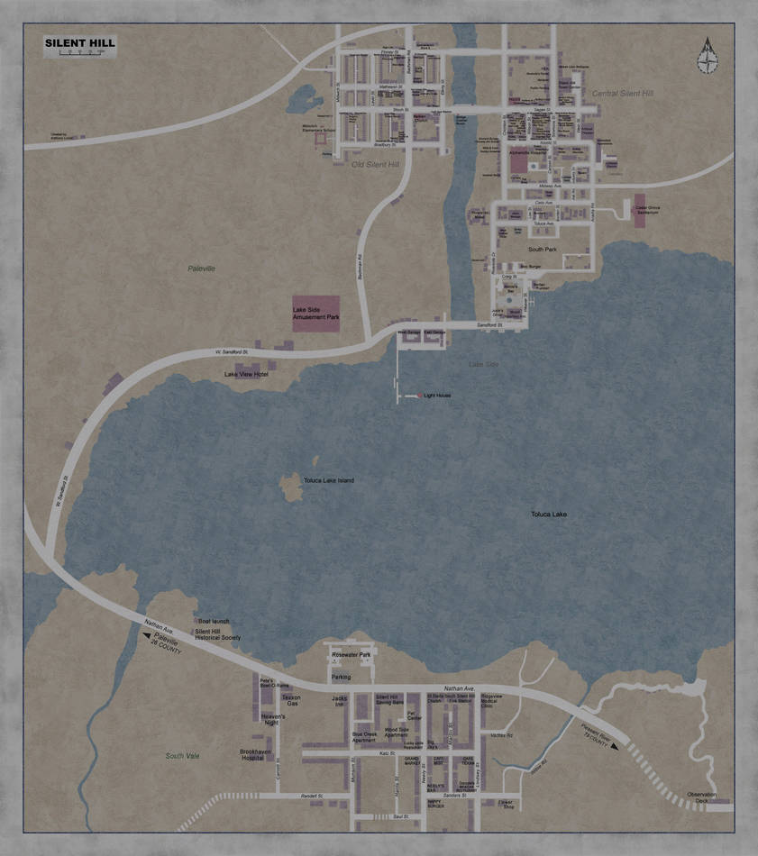 Silent Hill Complete Map By Guy Onthe Couch On Deviantart
