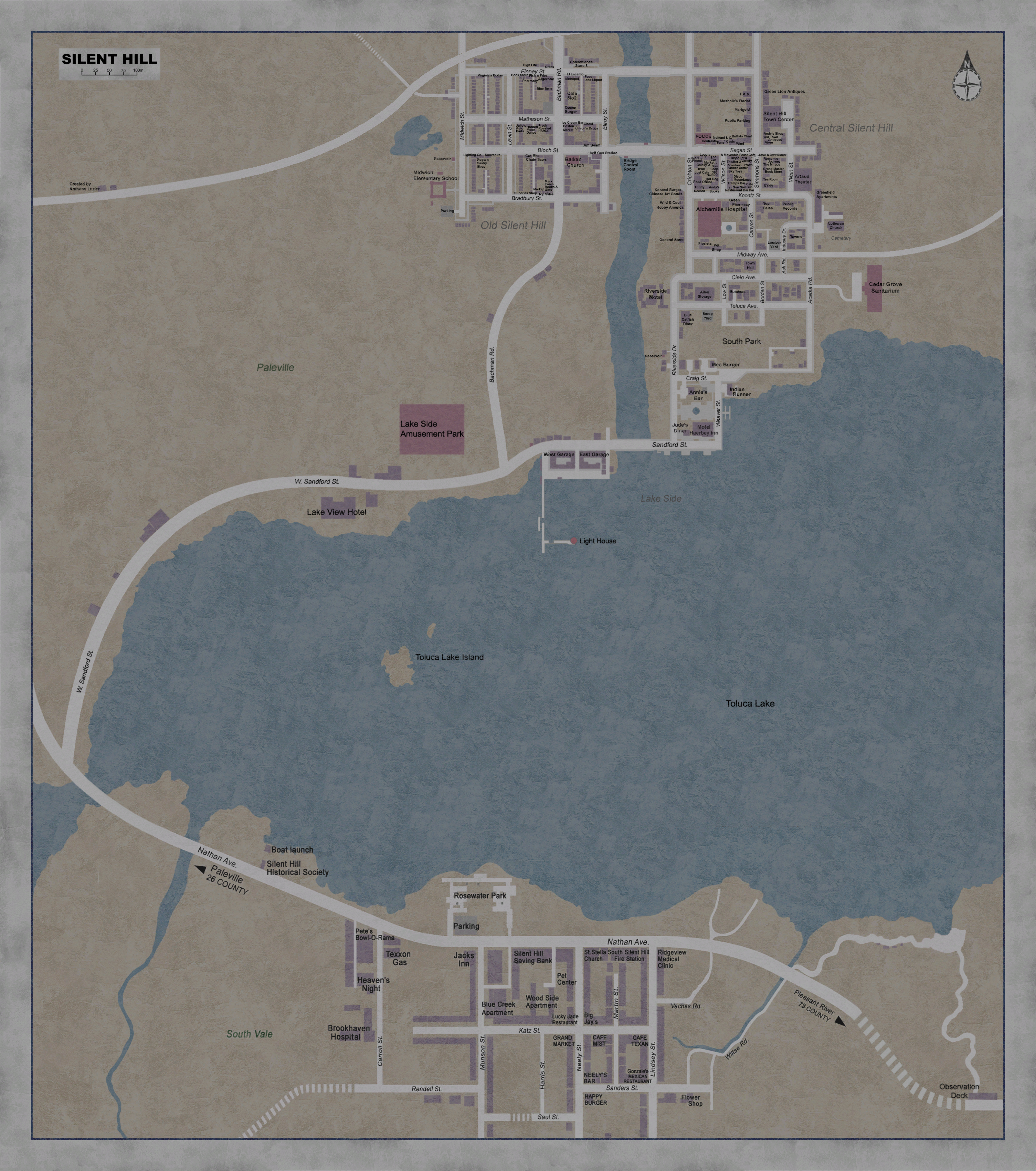 Silent Hill Complete Map by Guy-onthe-Couch