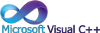 Microsoft Visual C++ (wordmark) Icon 100x33 by linux-rules