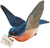 Big Blue Bird mail Icon big by linux-rules