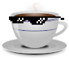 Cup with cool glasses Icon big