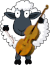 Cellist Sheep Icon big by linux-rules