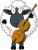 Cellist Sheep Icon by linux-rules