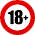 18 age restriction Icon mid
