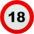 Traffic sign 18 age restriction (2) Icon by linux-rules