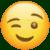 Winking Face (WhatsApp) Emote