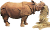 Rhinoceros unicornis (straw) Icon
