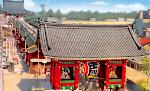Kaminarimon Gate and Senso-ji (i) Icon ultrabig