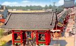 Kaminarimon Gate and Senso-ji Icon ultrabig