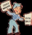 Newspaper boy in Ohio (stock)