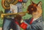 Cat Trumpet player Icon ultrabig