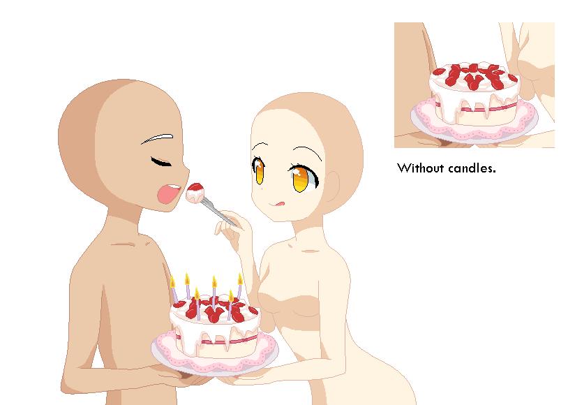 Manga Bases Base Birthday Cake