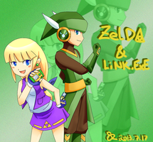 Battle Network Style Zelda and Link EXE by ScarletReisen