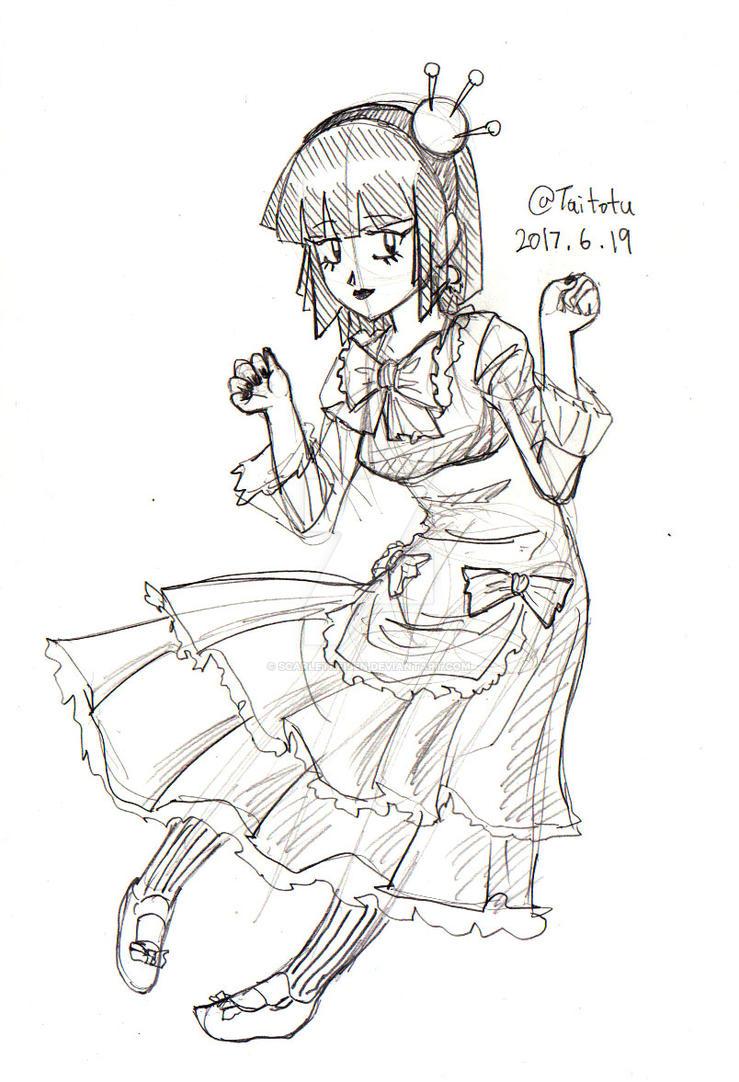 Marie Sketch 6-19-17 by ScarletReisen