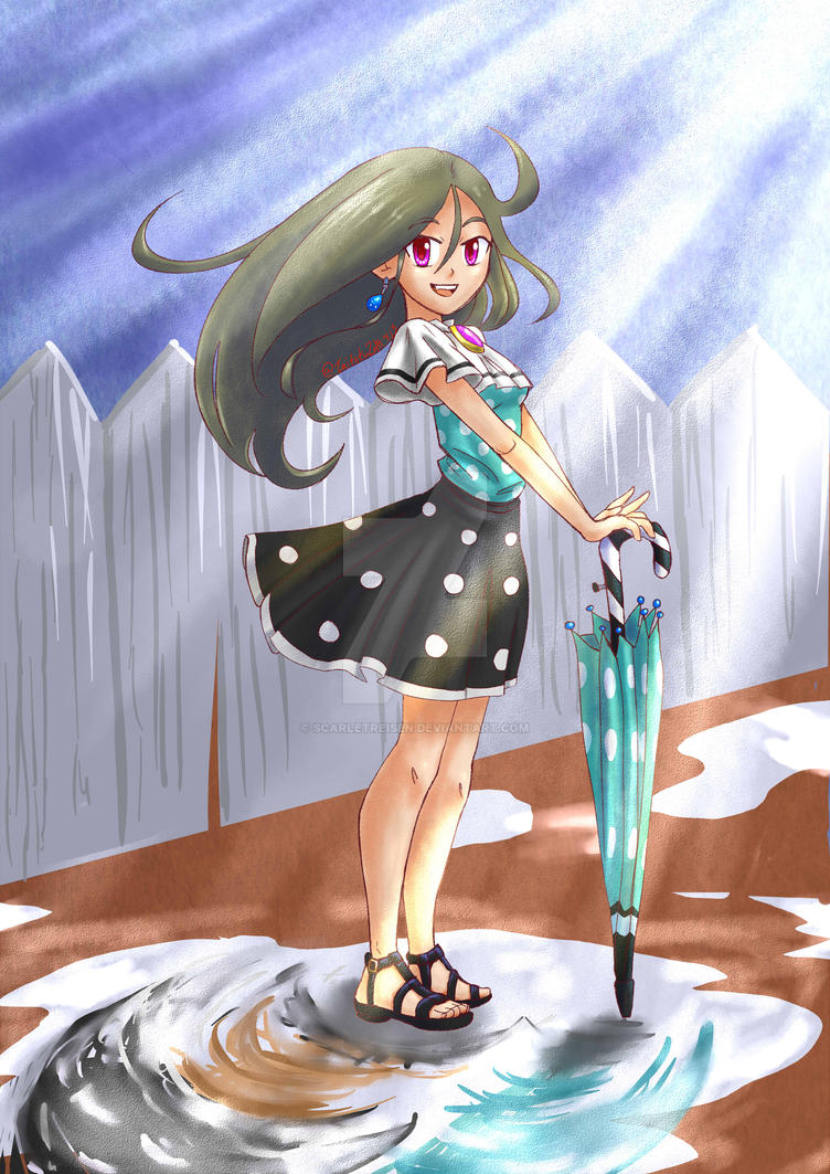 9-13-18 Umbrella Girl by ScarletReisen