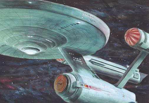 Star Trek painting - Starship Enterprise NCC1701