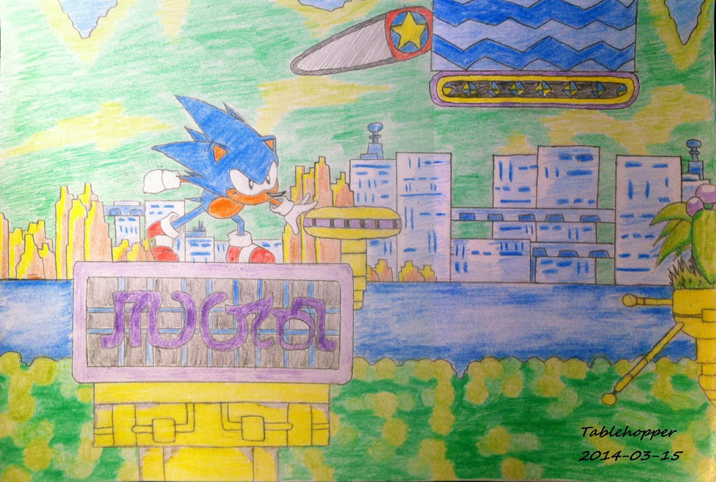 Sonic CD - A good future by Tablehopper