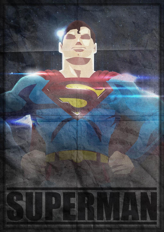 Poster superman by herobaka on deviantart - Poster super heros ...