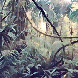 Thick jungle (surrealism style). by cibervlacho