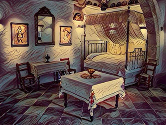 Room in an old house (Fauvism style). by cibervlacho