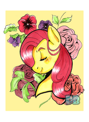 Fluttershy Portrait by PoneBooth