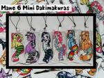 Mane 6 Mini Dakimakuras by PoneBooth