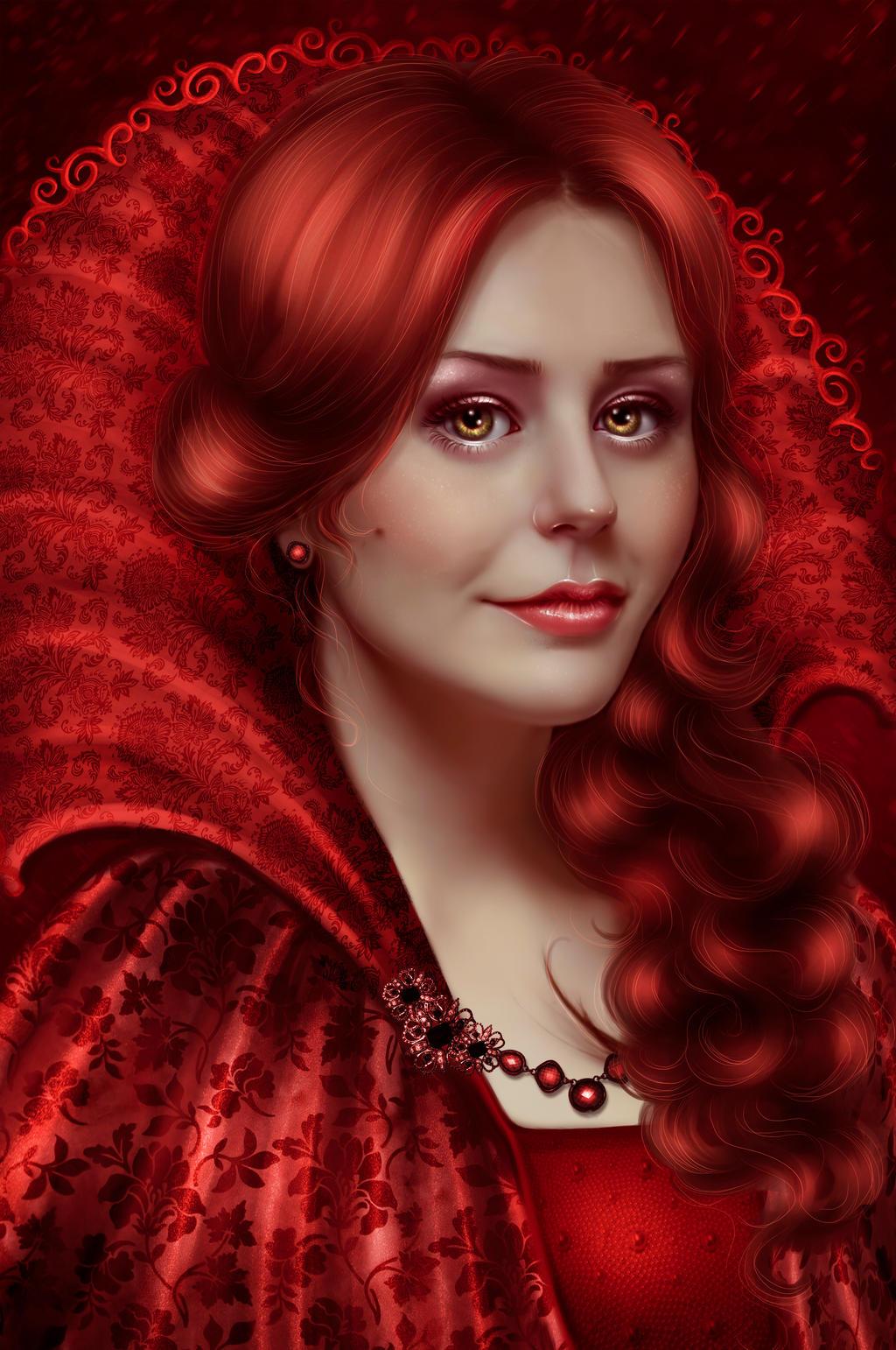 Lady in Red by IrinaPonochevnaya