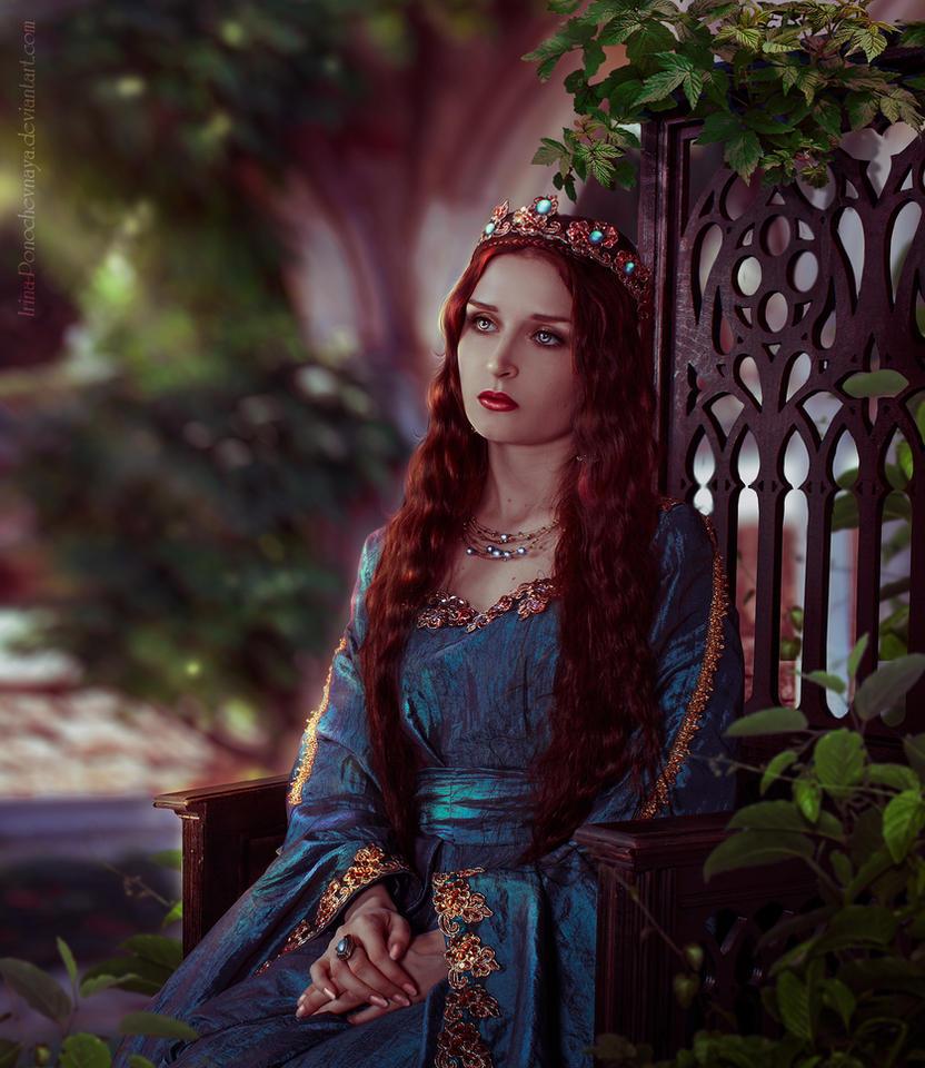In the garden by Irina-Ponochevnaya