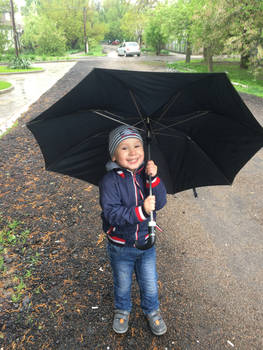 under the umbrella