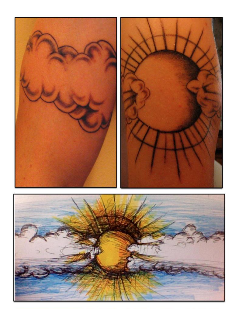 pin cloud and sun ray tattoos tattoo designs on pinterest tattoo tattooskid. Black Bedroom Furniture Sets. Home Design Ideas
