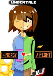 Undertale Mercy Or Fight by rianez3