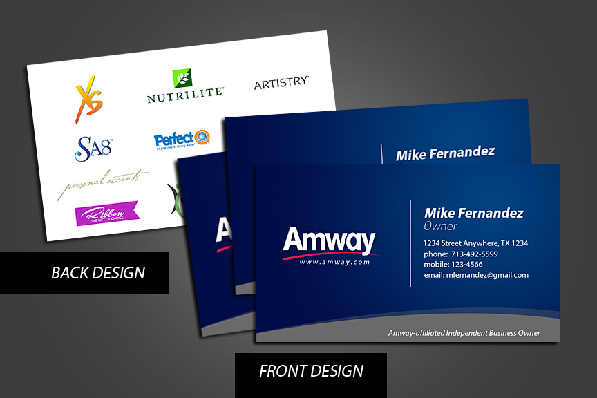 Amway Business Cards by grndvlzboy on DeviantArt