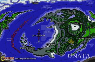 World Map of Unata: Full Color