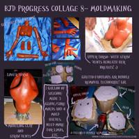 BJD Progress Collage 8 Silicone Moldmaking by briescha