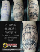 Tattoo 5: Ship, Session 1 of 2 by briescha