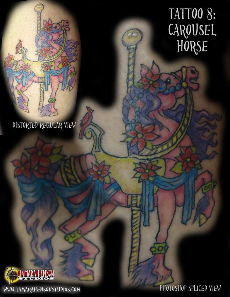 tattoo 8 carousel horse by briescha on deviantart. Black Bedroom Furniture Sets. Home Design Ideas