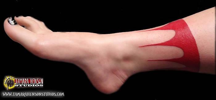 Tattoo: Freehand Pocahontas Anklet