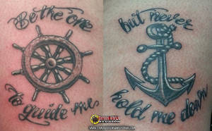 Tattoo: Anchor and Wheel Flash by briescha