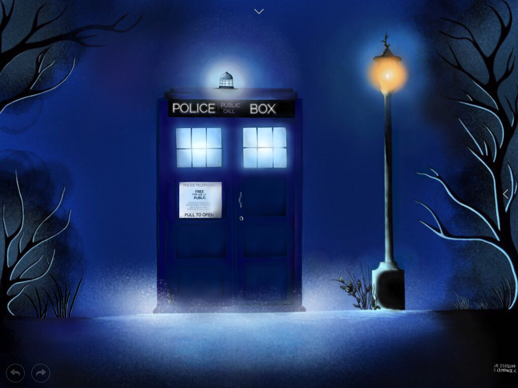 Dr. Who's blue Box by clemce666